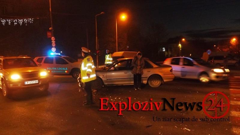 ACCIDENT: Două mașini avariate pe strada Dunării – VIDEO