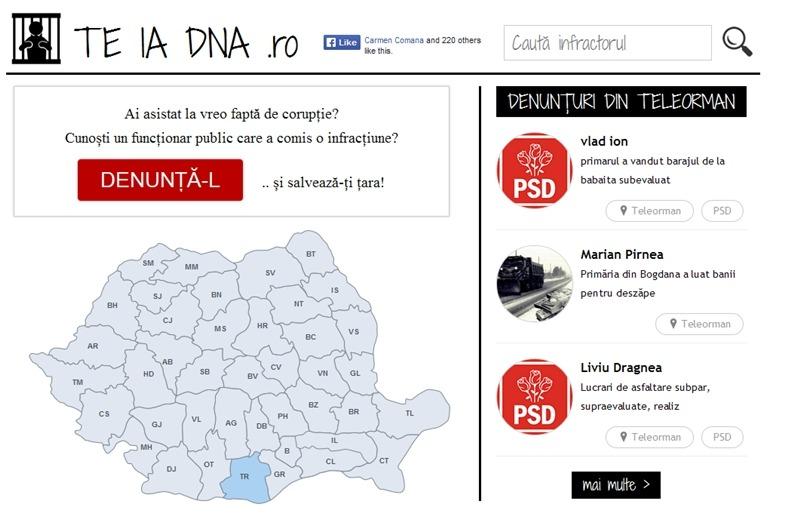 """Noi reclamații din Teleorman pe site-ul """"Te ia DNA"""" ."""