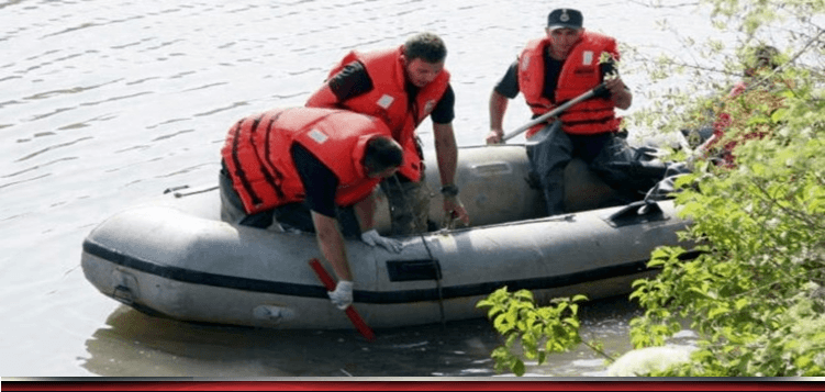 Misiune de salvare a pompierilor. Un bărbat este căutat în râul Teleorman