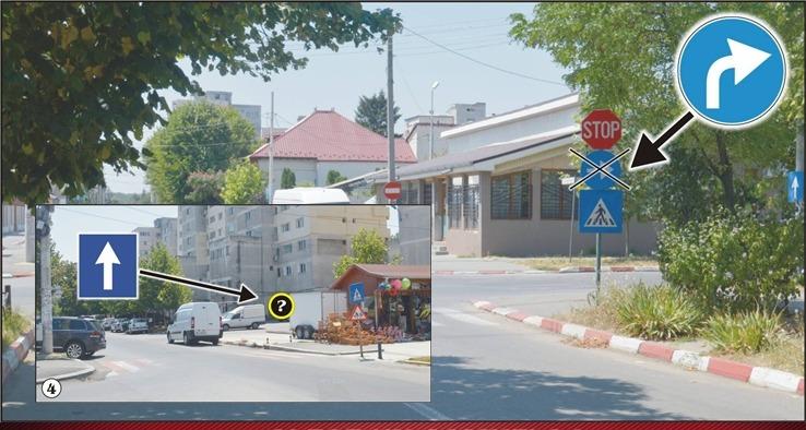 Indicatoarele rutiere din Alexandria lipsesc sau sunt amplasate eronat