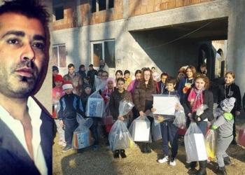 De Crăciun, Alex Erbașu a încălțat 70 de copii din Teleorman
