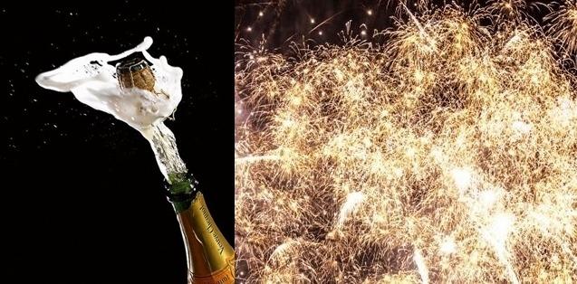 Şampanie şi foc de artificii pentru alexăndreni în noaptea de Anul Nou