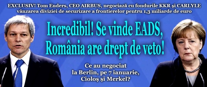 INCREDIBIL! Se vinde EADS, România are drept de veto!