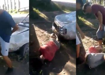 IMAGINI SOCANTE! Cluj-Napoca : Tanar batut cu bestialitate