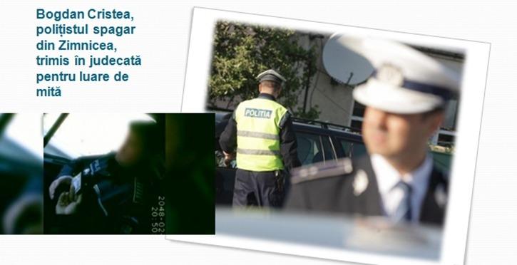 Bogdan Cristea, polițistul spagar din Zimnicea, trimis în judecată pentru luare de mită