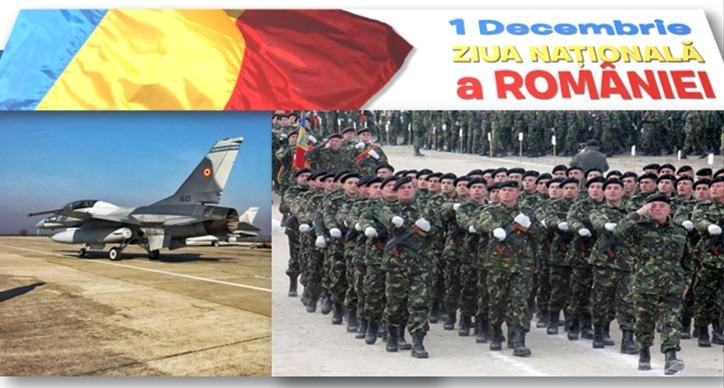 Avioanele F16 defilează în premieră la parada militară de 1 Decembrie, transmisă de TVR