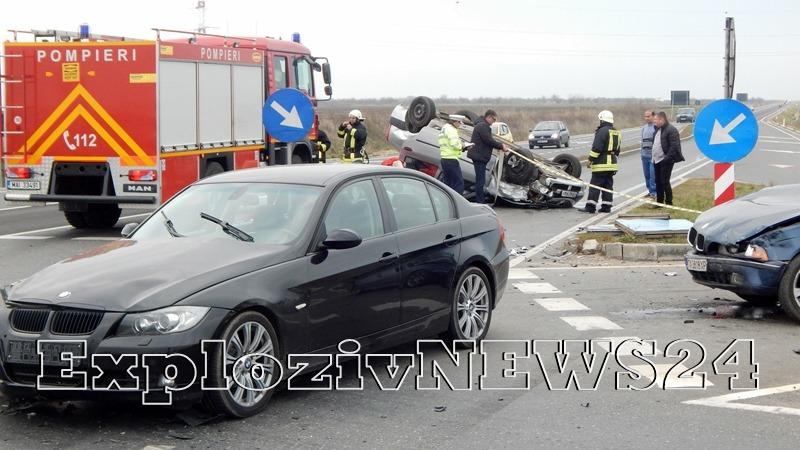 Accident pe centura Alexandriei (GALERIE FOTO)