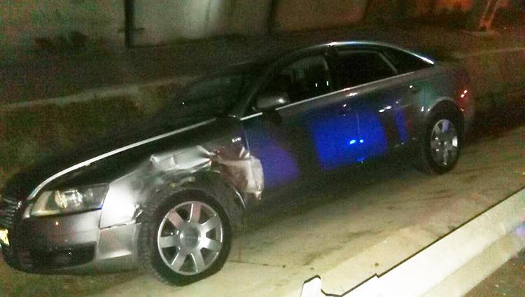 ACCIDENT: În comuna Buzescu o mașină a căzut în șanț