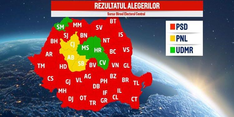 harta alegeri parlamentare