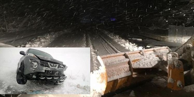 TELEORMAN   Situația drumurilor – Mașini derapate și circulație îngreunată pe drumurile din județ