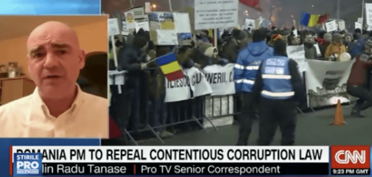 """VIDEO CNN a UMILIT """"afiliatul"""" Antena3! Americanii au apelat la un reporter Pro TV pentru explicarea evenimentelor din România!"""