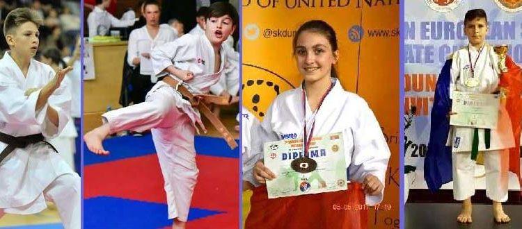 CS Alex Dojo a participat cu 4 elevi la Campionatul European de Karate