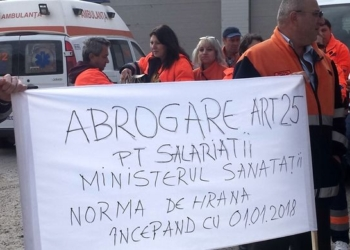Protest al angajaților Ambulanței din Teleorman