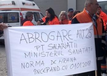 Protest al angajaților Ambulanței din Teleorman