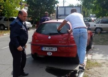 Sandu Petre, şeful Poliţiei Rutiere Teleorman, implicat într-un accident de circulaţie