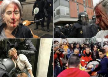 Violente in Spania, la referendumul de independenta a Cataloniei.