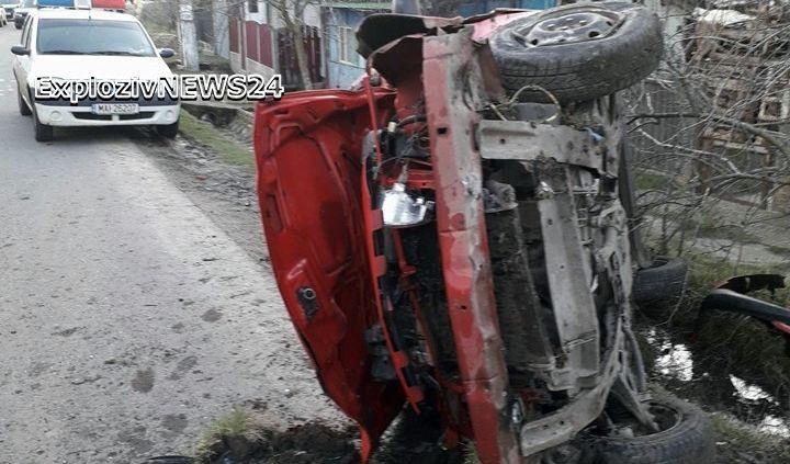 ACCIDENT GRAV la Valea Cireșului. Trei persoane au ajuns la spital