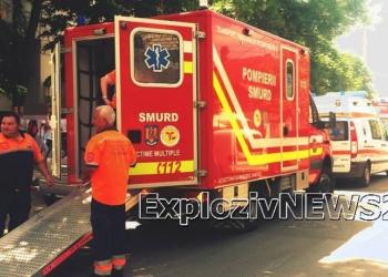 """Şapte elevi ai Şcolii """"Mihai Viteazul"""" au ajuns la spital după ce au inhalat pulbere dintr-un stingător"""