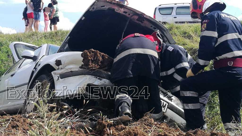 VIDEO   Accident rutier pe centura ocolitoare a Alexandriei.O persoana a ajuns la spital