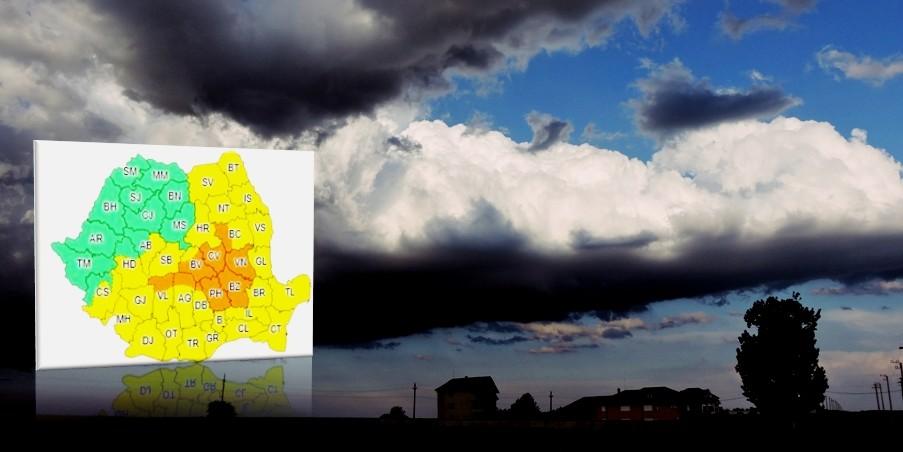 ALERTĂ METEO | Teleormanul, sub Cod GALBEN de ploi abundente și instabilitate atmosferică