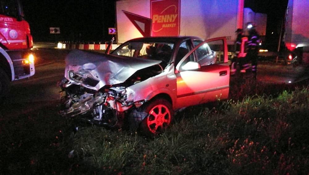 VIDEO   Accident pe şoseaua de centură a Alexandriei