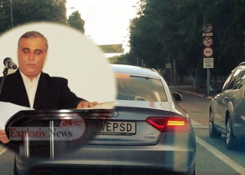 Viceprimarul Alexandriei il ameninta in stil mafiot pe posesorul autoturismului cu numarul MU1E PSD