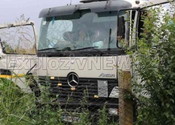 Tir lovit de tren, la Nanov. Patru persoane au ajuns la spital