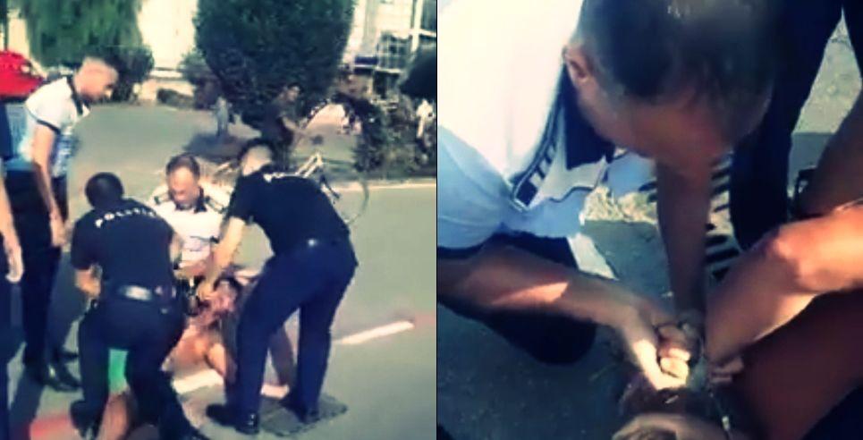 VIDEO Tânărul care a lovit un poliţist din Alexandria a fost reţinut 30 de zile