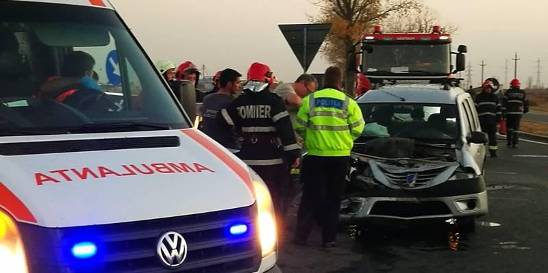 VIDEO   Accident rutier pe centura ocolitoare a Alexandriei