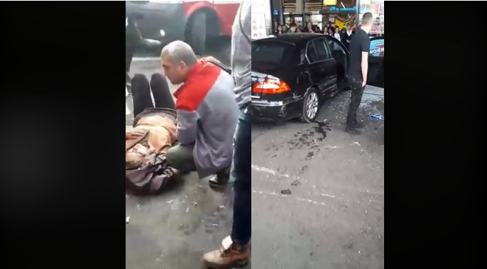 """VIDEO. Atac la mall în Brăila. """"Trebuie să curgă sânge în țara asta!"""""""