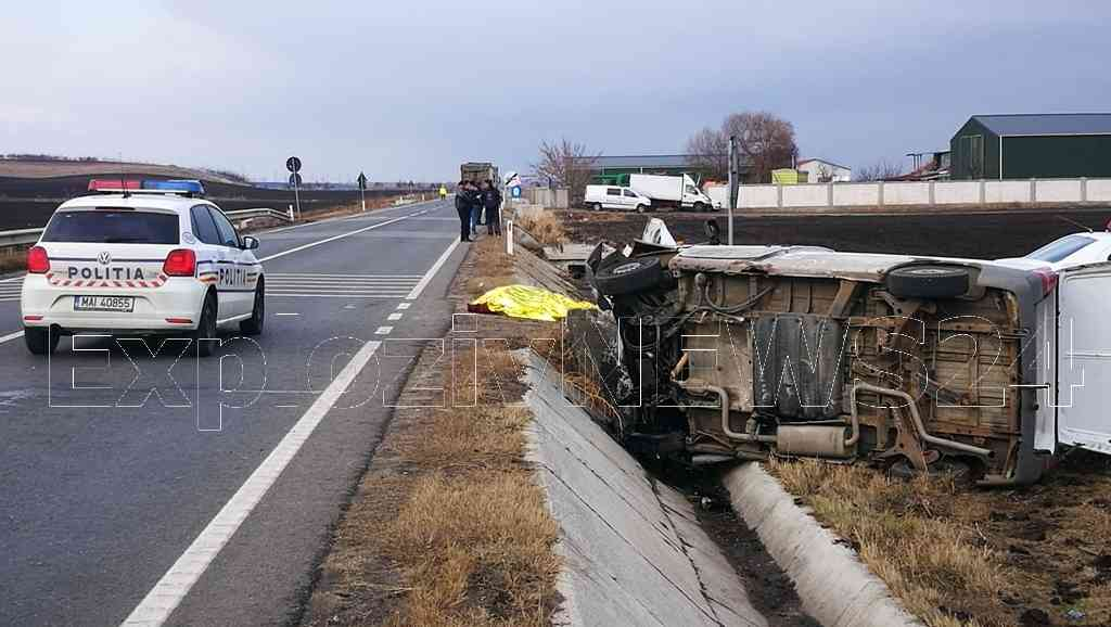 Accident MORTAL pe E70, la Peretu. O persoana si-a pierdut viata