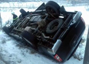 Accident pe DN6, la iesire din Rosiori spre Maldaeni