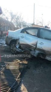 Accident pe DJ 504, în localitatea Lăceni. Un tanar teribilist a spulberat parapetii de pe marginea drumului si gardul unei locuinte