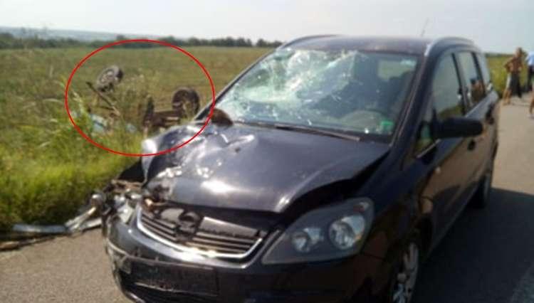 Accident pe DJ506, între localitățile Beiu și Cervenia 1