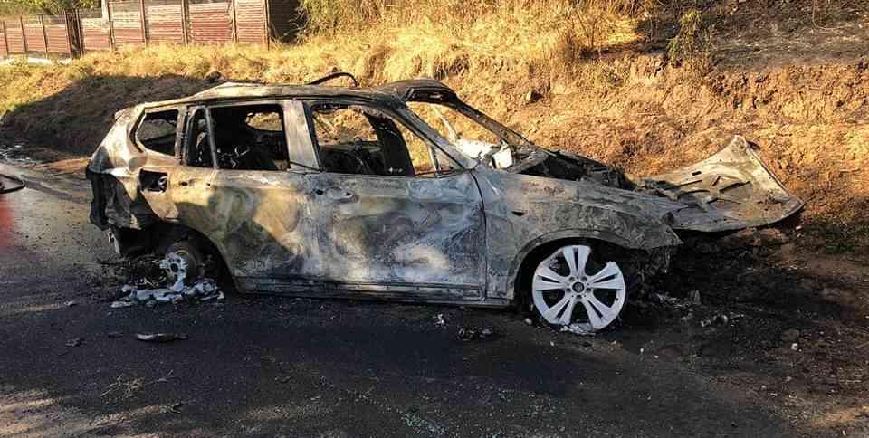 Un bolid a luat foc în urma unui accident rutier, la Frăsinet 1