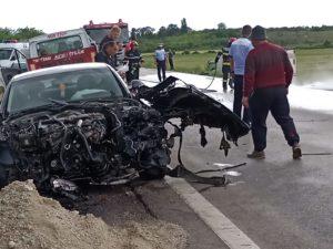Un accident de circulație a blocat traficul pe E70, între